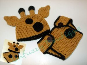 Free Crochet Pattern for Baby Hat and Diaper Cover